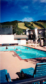 Retreat condominium complex pool